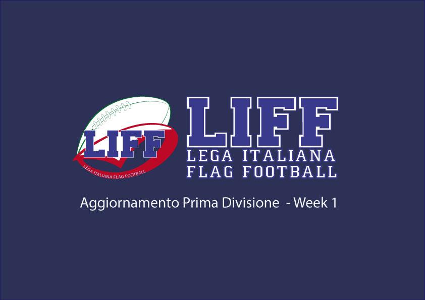Aggiornamento Prima Divisione Week 1